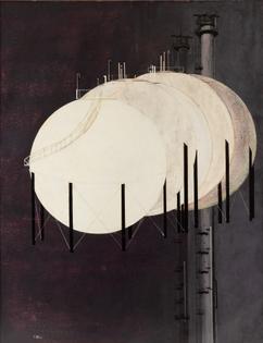 Pol Mara (Belgian, 1920-1998), Industrial Forms, 1955