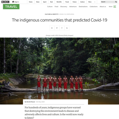 The indigenous communities that predicted Covid-19