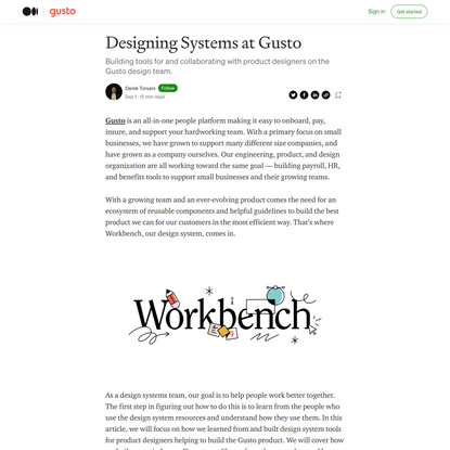 Designing Systems at Gusto. Building tools for and collaborating… | by Derek Torsani | Gusto Design | Sep, 2021 | Medium