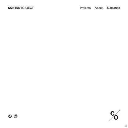Content Object Design Studio