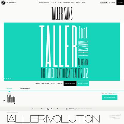Taller Typeface by Zetafonts