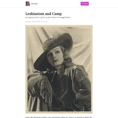 Lesbianism and Camp