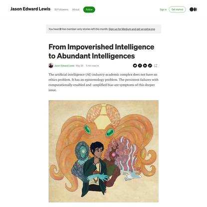 From Impoverished Intelligence to Abundant Intelligences