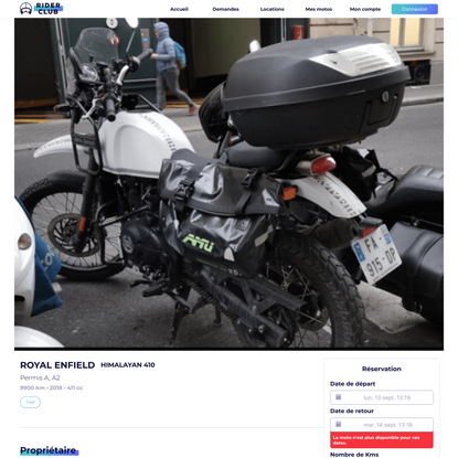 Location ROYAL ENFIELD HIMALAYAN 410 Trail à Vanves