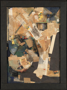 Kurt Schwitters / Picture of Spatial Growths - Picture with Two Small Dogs / 1920–39