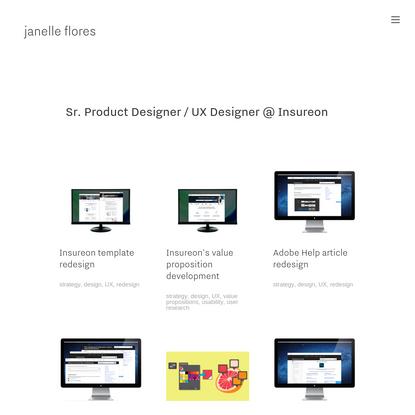 Janelle Flores Sr.Product Designer/UX