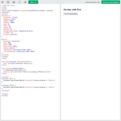 Tryit Editor v3.7