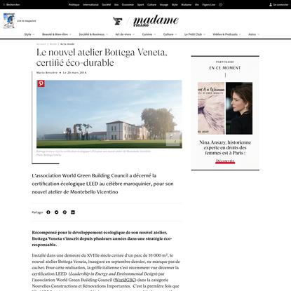 Le nouvel atelier Bottega Veneta, certifié éco-durable