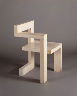 Steltman Chair, Gerrit Thomas Rietveld, Dutch, 1888–1964, 1963, Saint Louis Art Museum: Decorative Arts and Design