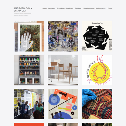 Anthropology + Design 2021 – Graduate Studio with Shannon Mattern and Will Scarlett