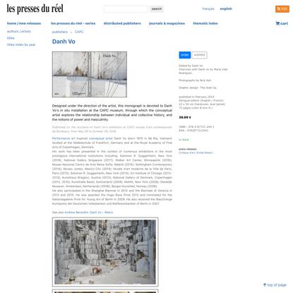 Danh Vo :   - Les presses du réel (book)