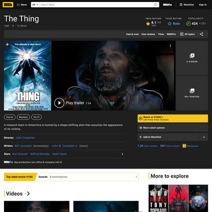 The Thing (1982) - IMDb
