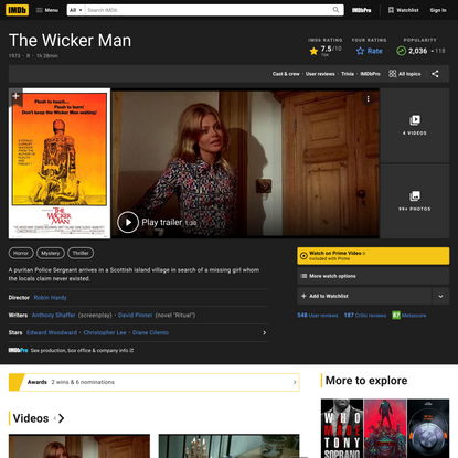 The Wicker Man (1973) - IMDb