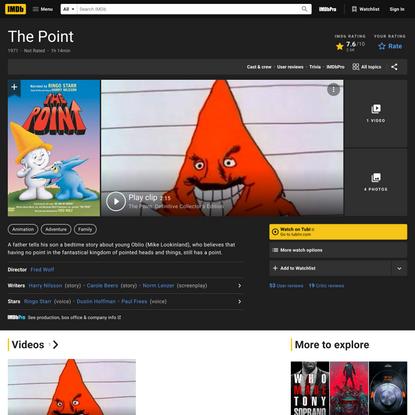 The Point (1971) - IMDb