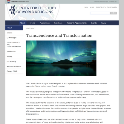Transcendence and Transformation
