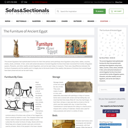 The Furniture of Ancient Egypt | Sofas and Sectionals