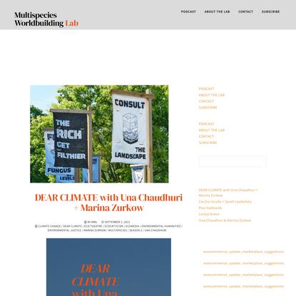 marina zurkow Archives - multispecies worldbuilding lab