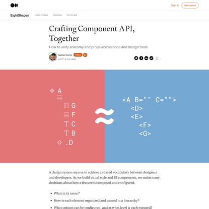 Crafting Component API, Together