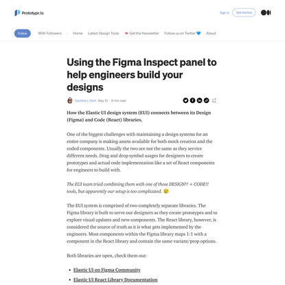 Using the Figma Inspect panel to help engineers build your design