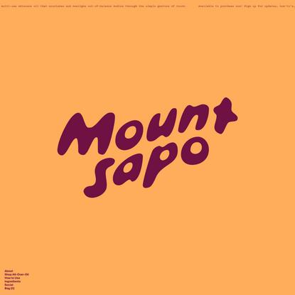 Mount Sapo | Multi-use organic skincare