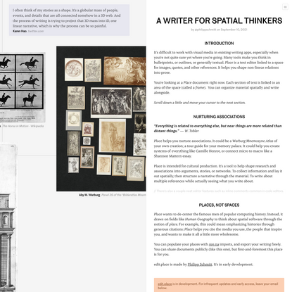 A WRITER FOR SPATIAL THINKERS