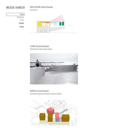 Projects | INESSA HANSCH ARCHITECTE