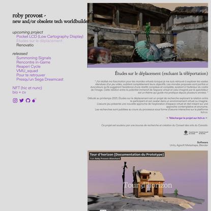 Études sur le déplacement — Roby Provost