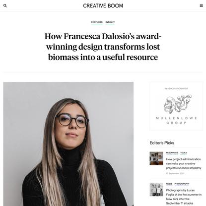 How Francesca Dalosio's award-winning design transforms lost biomass into a useful resource | Creative Boom