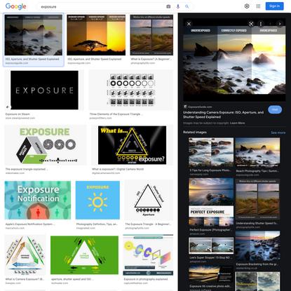 exposure - Google Search