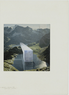 The Continuous Monument: Alpine Lakes, project (Perspective) 1969