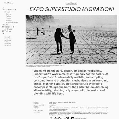 EXPO Superstudio Migrazioni