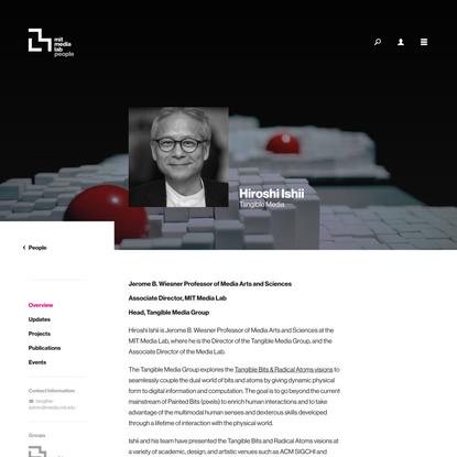 Person Overview ‹ Hiroshi Ishii – MIT Media Lab