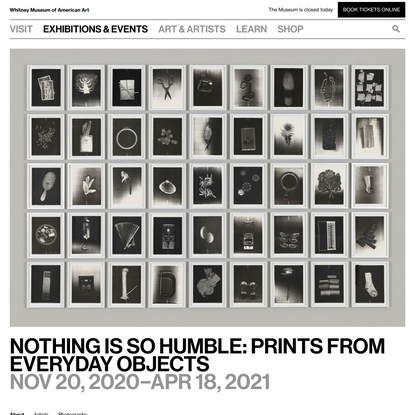 Nothing Is So Humble: Prints from Everyday Objects