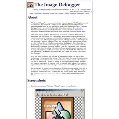 The Image Debugger
