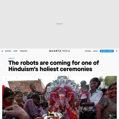 The robots are coming for one of Hinduism's holiest ceremonies