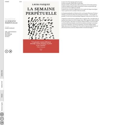 La Semaine perpétuelle - Editions du sous-sol
