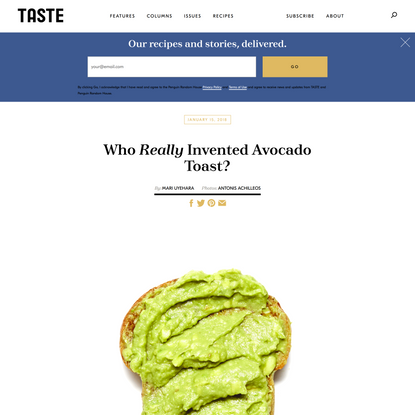 Who Really Invented Avocado Toast? An Investigation.