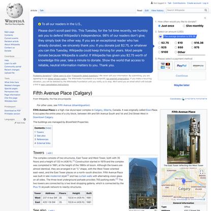 Fifth Avenue Place (Calgary) - Wikipedia