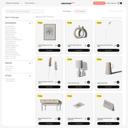 Item mockups item | Mockups store - Creatoom
