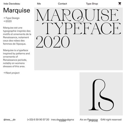 Marquise — Inès Davodeau