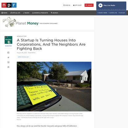 A Startup Is Turning Houses Into Corporations, And The Neighbors Are Fighting Back