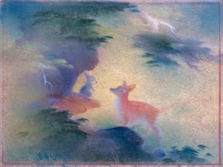 Tyrus Wong (1910 - 2016), Concept art for Walt Disney's Bambi