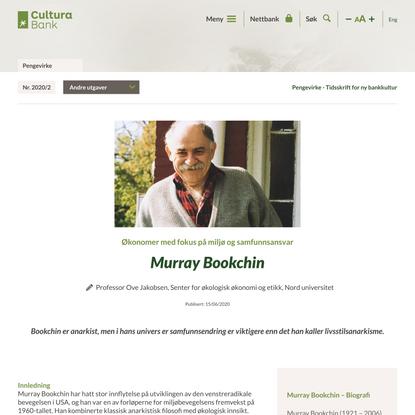 Murray Bookchin - Cultura Bank