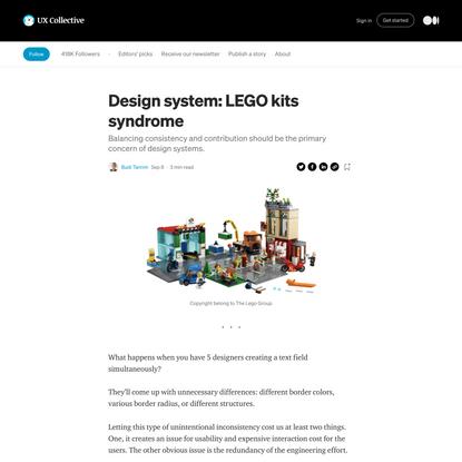 Design system: LEGO kits syndrome