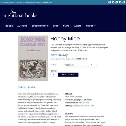 Honey Mine – Nightboat Books