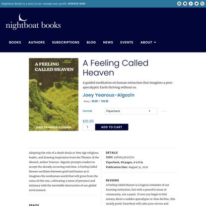 A Feeling Called Heaven – Nightboat Books