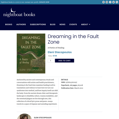 Dreaming in the Fault Zone – Nightboat Books