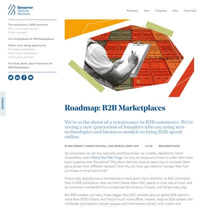 Roadmap: B2B Marketplaces