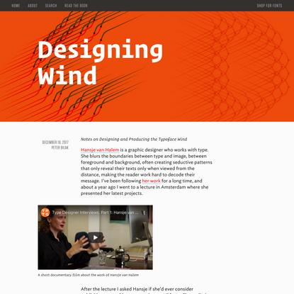 Designing Wind — I Love Typography
