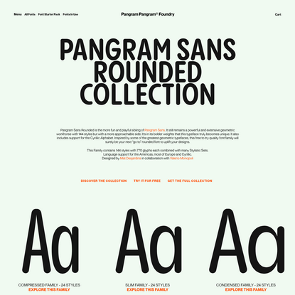 Pangram Sans Rounded
